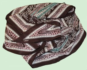 Chloé Écharpe en soie brun foncé-brun sable soie