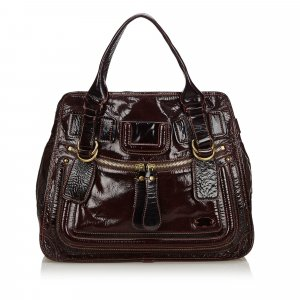 Chloe Patent Leather Bay Tote Bag
