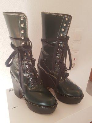 Chloe Plateau Boots Grün 37 ( 37,5)  NP 1400 E