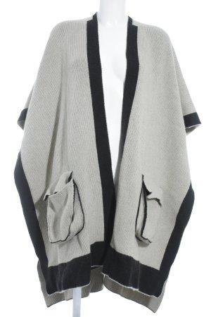 Chloé Poncho crème-noir Motif de tissage style mode des rues