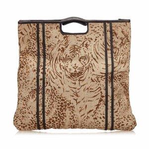 Chloe Printed Fiber Tote Bag