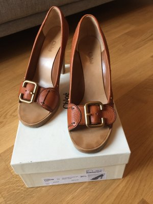 See by Chloé High Heels cognac-coloured-light brown leather