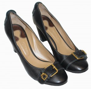 Chloé Chaussure à talons carrés noir cuir