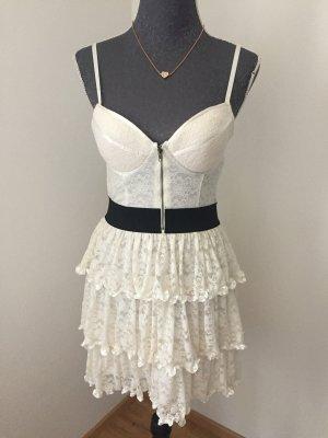 Chloé Vestido bustier negro-blanco