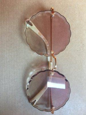 Chloé Round Sunglasses pink glas