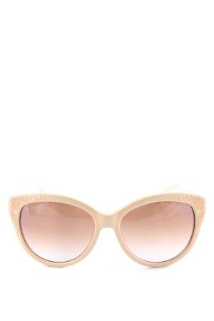 Chloé runde Sonnenbrille beige Elegant