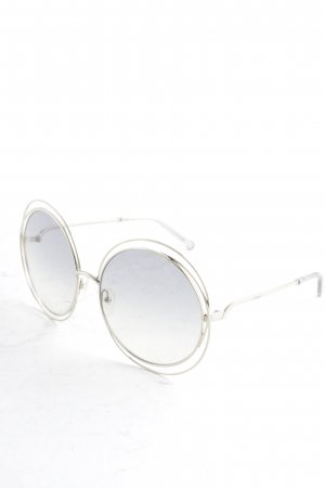 Chloé Round Sunglasses silver-colored Boho look