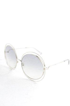 Chloé Gafas de sol redondas color plata look Boho
