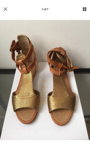 Chloé Roman Sandals bronze-colored-brown