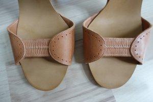 Chloé Hoge hakken sandalen beige-camel Leer