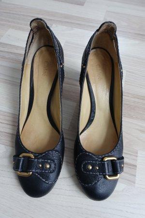 CHLOE Schuhe, Pumps mit Paddington Schnalle, aus Leder in schwarz, Gr. 41