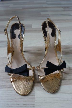 CHLOE Schuhe,Sandaletten, aus Schlangenleder in kupfer, mit super schöner Schleife, Gr. 40