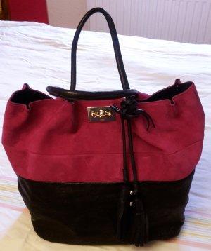 Chloé Shopper zweifarbig schwarz und pink