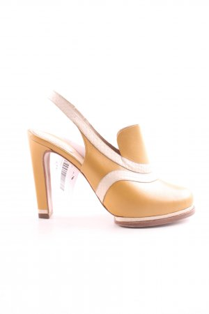 Chloé Slingback Pumps light orange-natural white casual look