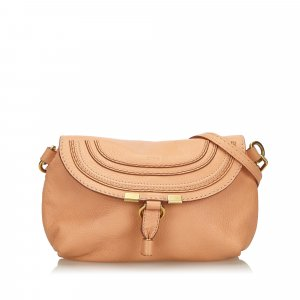 Chloe Small Leather Marcie Crossbody Bag