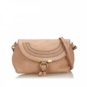 Chloe Small Studded Leather Marcie Crossbody Bag