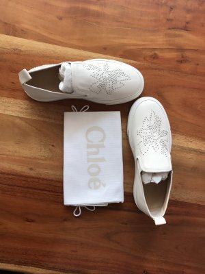 Chloé Sneaker slip-on bianco-argento Pelle