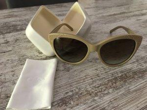 Chloé Oval Sunglasses beige