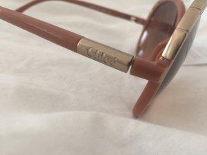 Chloé Sonnenbrille Braun Gold