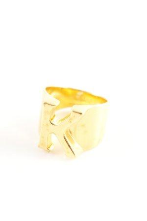 Chloé Bague incrustée de pierres doré article unisexe