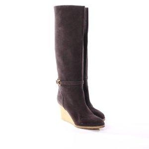 CHLOÉ Stiefel Gr. D 38,5 Braun Damen Schuhe  Leder