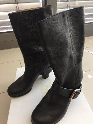 Chloé Booties dark brown leather