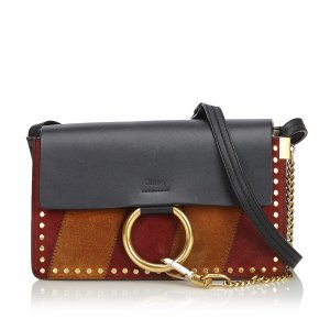 Chloe Studded Suede Faye Crossbody Bag