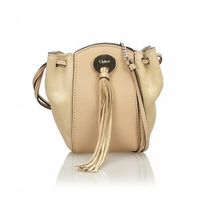 Chloe Suede Leather Drawstring Bag