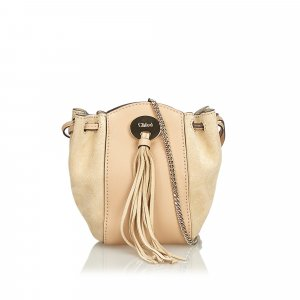 Chloe Suede Leather Drawstring Crossbody