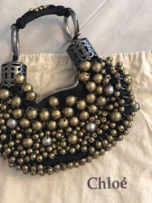 CHLOÉ Tasche mit goldenen und silbernen Perlen, ideal für Abends