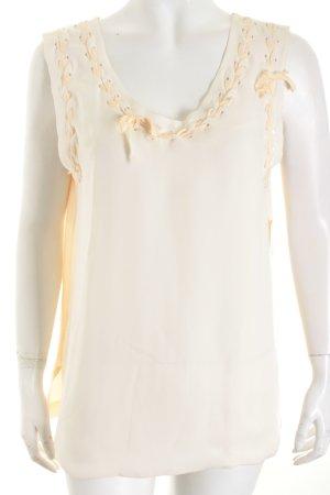 Chloé Top blanc cassé-beige clair style extravagant