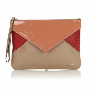 Chloe Tricolor Puzzle Clutch Bag