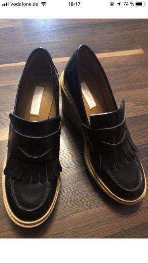Chloé Décolleté con plateau nero-marrone chiaro