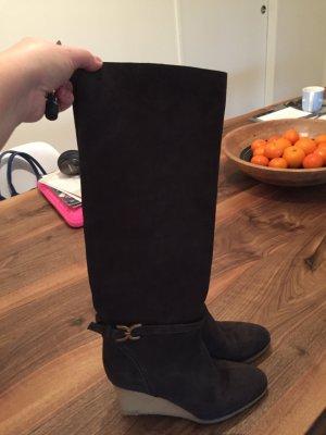 Chloé Bottes à talon haut brun foncé cuir