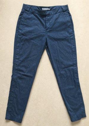 Chloe: zarte Wollhose in gedecktem Blau / Größe 38 / Schurwolle