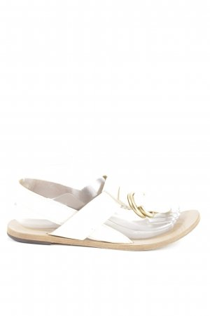 Chloé Toe-Post sandals white-gold-colored casual look
