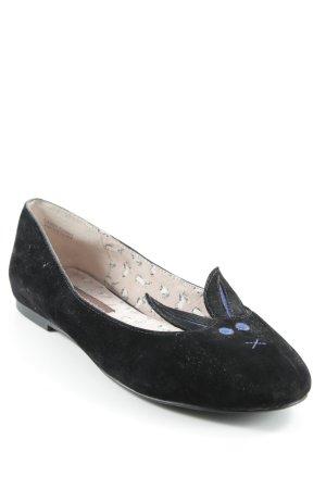 Chocolate Schubar Ballerinas mit Spitze schwarz Casual-Look
