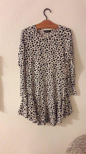 Choies Kleid Volant Peplum Animal Muster Langarm Minikleid