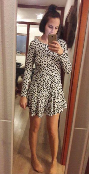 Choies Kleid Volant Peplum Minikleid gemustert langarm