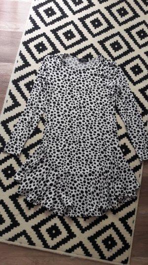 Choies Kleid Volants Tupfen Flecken Animal Black and White S/M