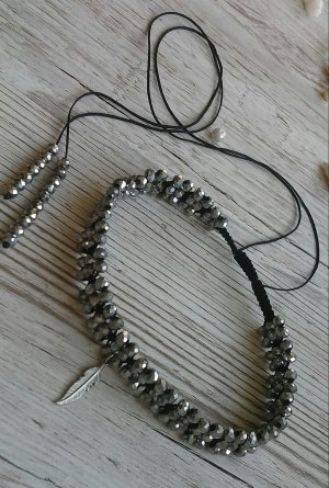 Collier Necklace dark grey
