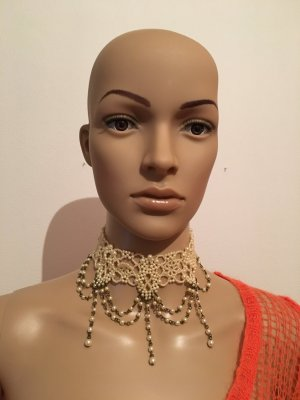 Collier Necklace gold-colored-natural white