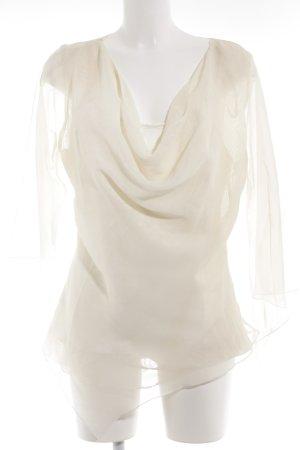 Chou Chou Transparenz-Bluse creme Elegant