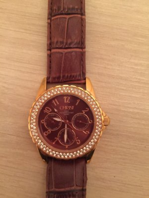 Christ Watch With Leather Strap multicolored