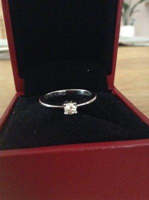Christ Lupenreiner 585 er Weißgold Diamantring Brillant/Diamant