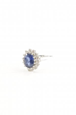 Christ Silver Ring blue elegant