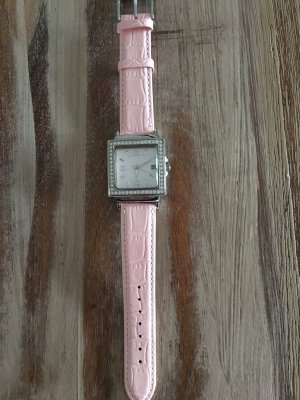 Christ Watch With Leather Strap pink stainless steel