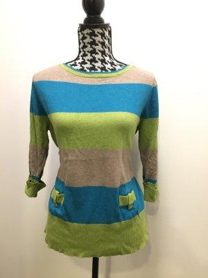 Christa Probst Jersey de cuello redondo multicolor tejido mezclado