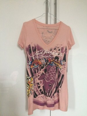 Christian Audigier Ed Hardy Oberteil in rose Gr. M 38