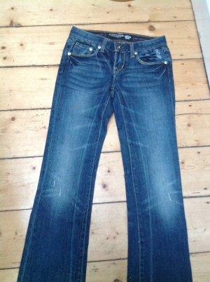 Christian Audigier Jeans mit Strass und Stickerei